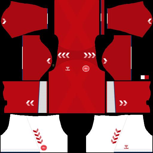 equipación Selección de Dinamarca Dream League Soccer