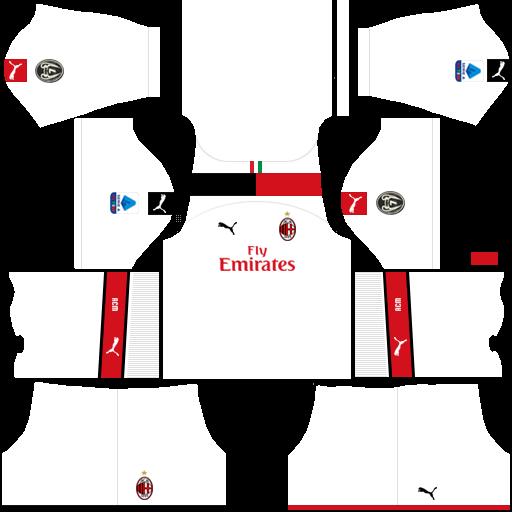 equipación AC Milan Dream League Soccer
