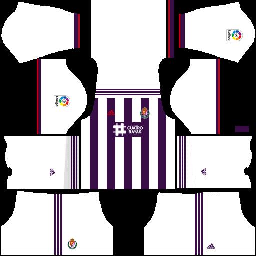 equipación Real Valladolid Dream League Soccer