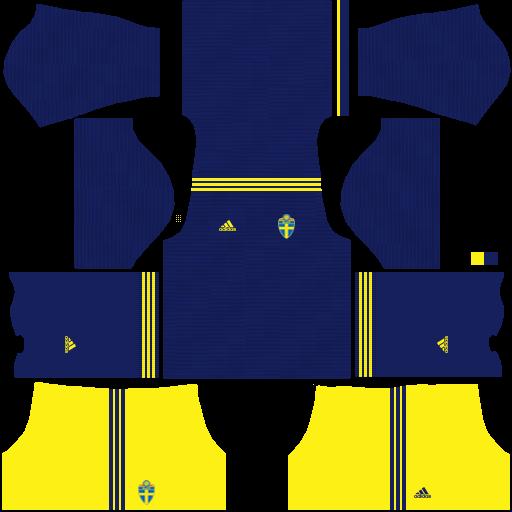 equipación Selección de Suecia Dream League Soccer